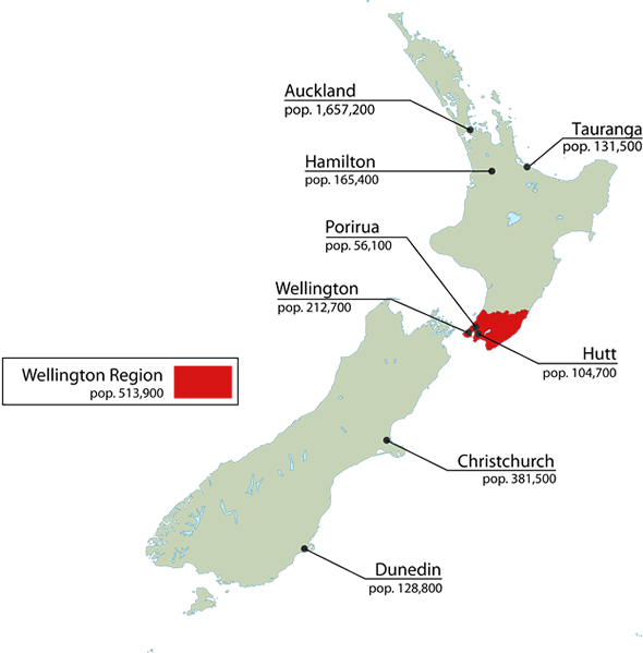 Where Is Wellington New Zealand On The Map.The Quality Of Life Survey